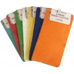2 Pack Heavy Washcloth Bright