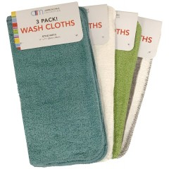 3 Pack Wash Cloths