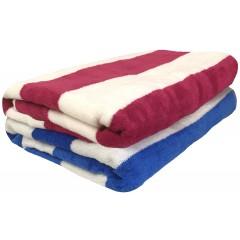 Velour Cabana Stripe Towel