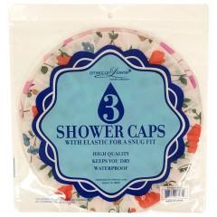 3 Pack Shower Caps