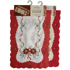 Embroidered Holiday Table Runner