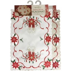 Embroidered Holday Place Mat