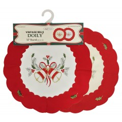 Embroidered Holiday Doily
