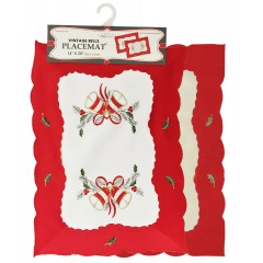 Embroidered Holiday Placemat