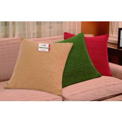 "18"" Holiday Filled Chenille Cushion Cover"
